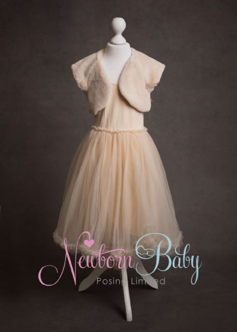 Dress & Bolero ~ Pale Peach Age 4-6